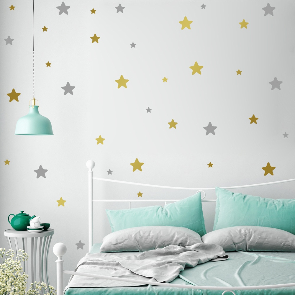 별 벽 스티커 어린이 방 아기 보육 침실 홈 인테리어 어린이 키즈 벽 스티커 아트 키즈 벽 전사 무늬 바탕 화면